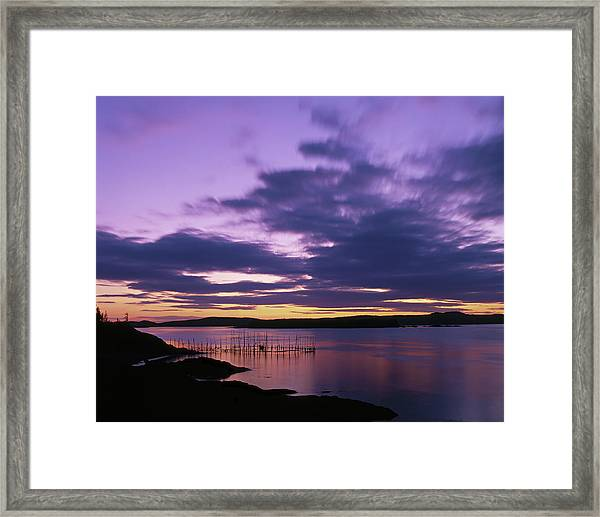 Herring Weir, Sunset Framed Print