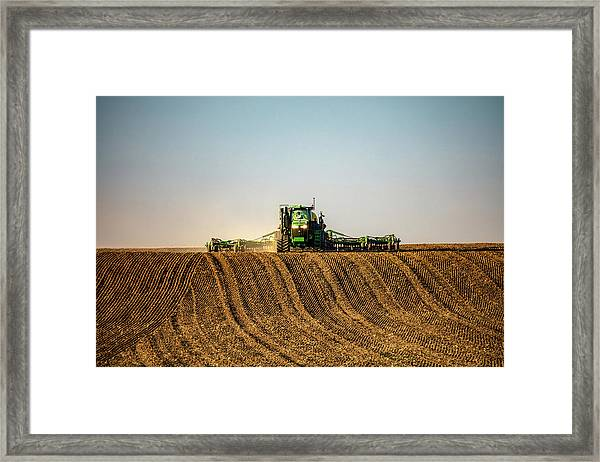 Herringbone Sowing Framed Print