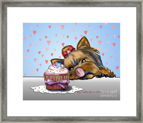 Hey There Cupcake Framed Print