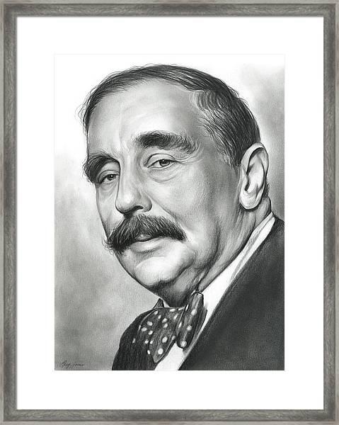 H.g. Wells Framed Print