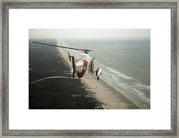 Hh-52a Beach Patrol Framed Print