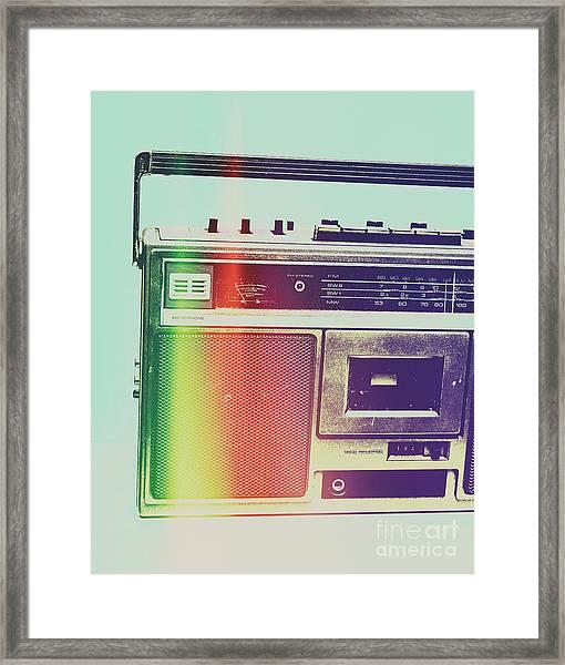 Hi-fi Pop Framed Print