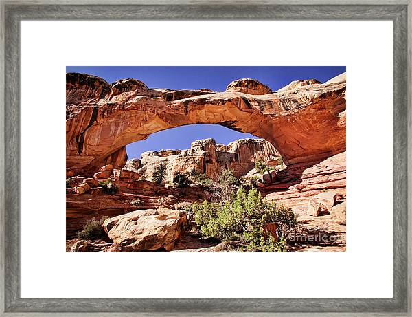 Hickman Bridge Framed Print