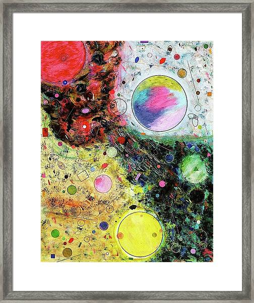 Framed Print featuring the mixed media Hidden Aliens by Michael Lucarelli