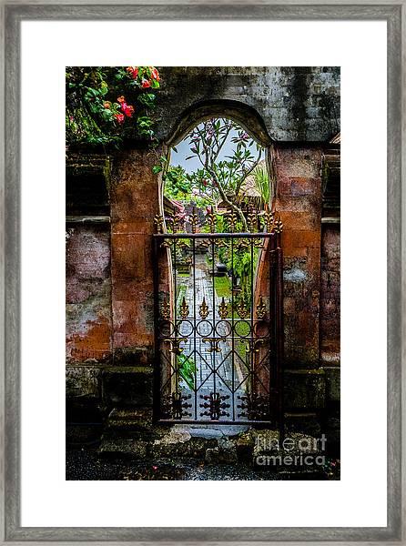 Bali Gate Framed Print