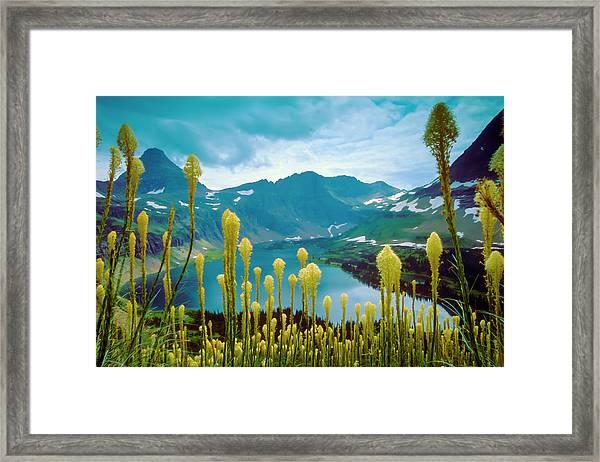 Hidden Lake, Gnp Framed Print