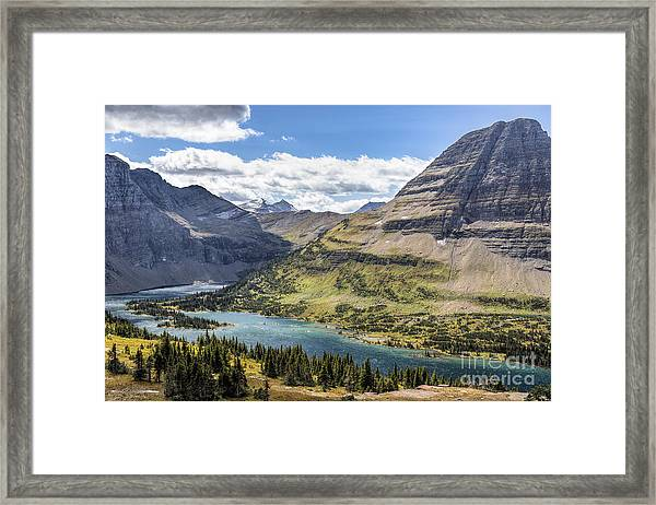 Hidden Lake Overlook Framed Print