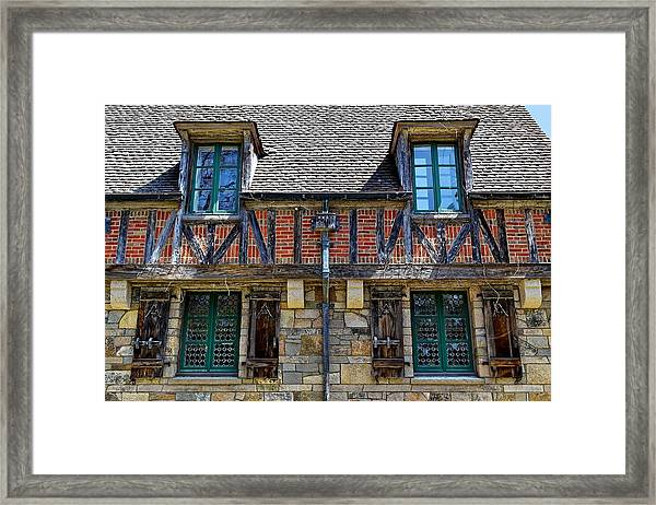 Hidden Lodge - Acadia National Park Framed Print