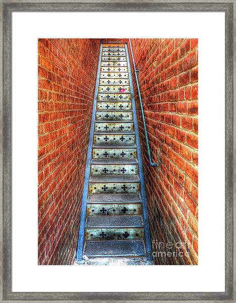 Hidden Stairway In Old Bisbee Arizona Framed Print