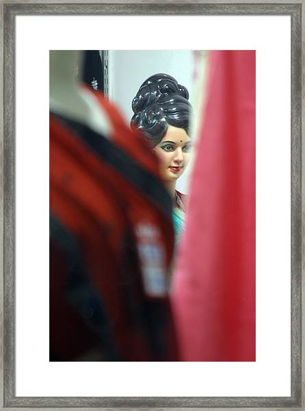 Hiding From My Public Framed Print by Jez C Self