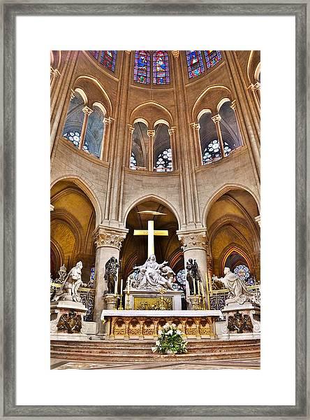 High Alter Notre Dame Cathedral Paris France Framed Print