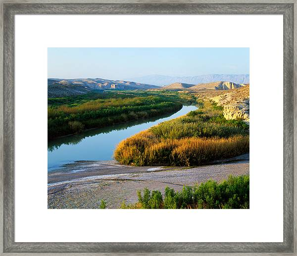 High Angle View Of Rio Grande Flood Framed Print