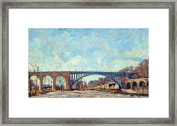 High Bridge Winter Light Nyc Framed Print