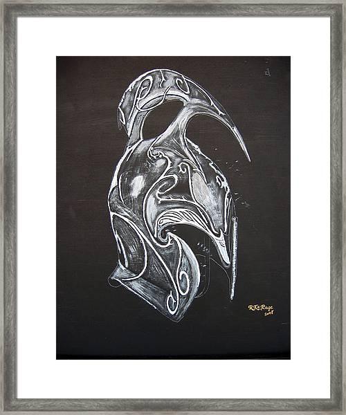 High Elven Warrior Helmet Framed Print