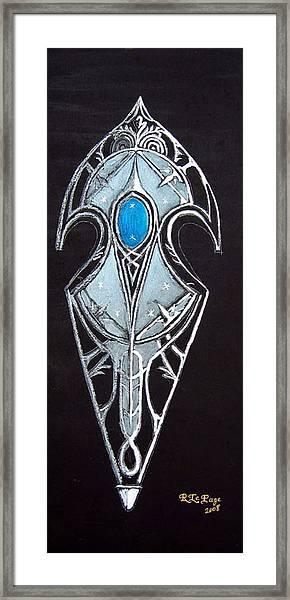 High Elven Warrior Shield  Framed Print