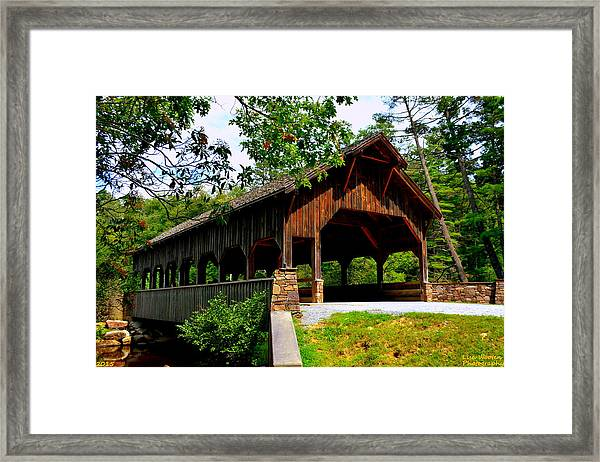 High Falls Covered Bridge Framed Print