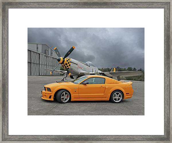 High Flyers - Mustang And P51 Framed Print