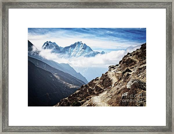 High In The Himalayas Framed Print