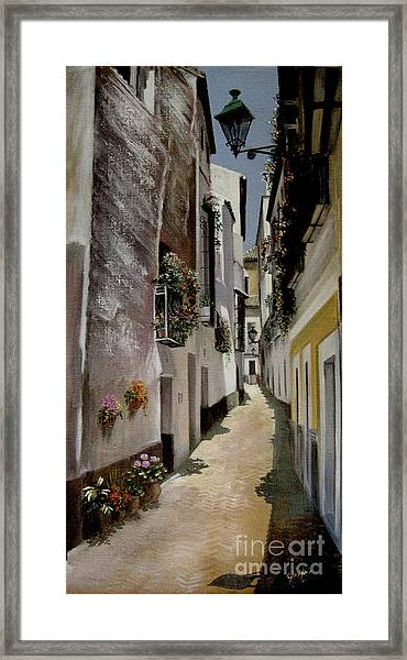 High Noon In The Pueblo Framed Print by Mai Griffin