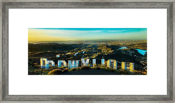 High On Hollywood Framed Print
