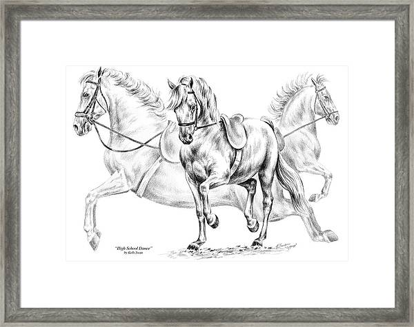 High School Dance - Lipizzan Horse Print Framed Print