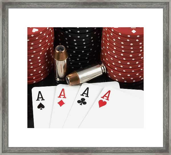 High Stakes Poker Framed Print