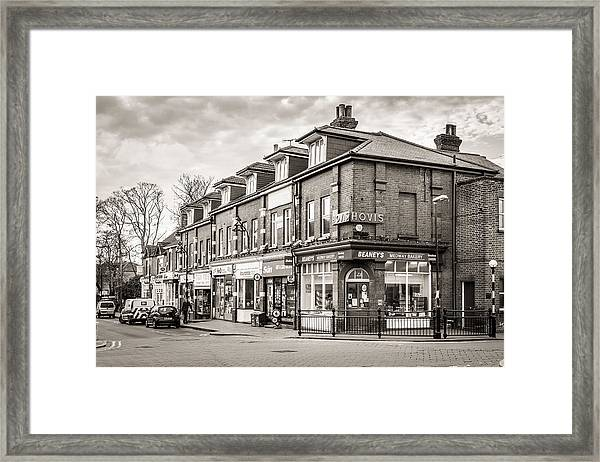 High Street. Framed Print