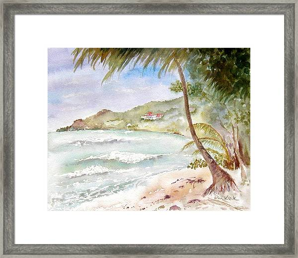 High Surf At Brewers Framed Print