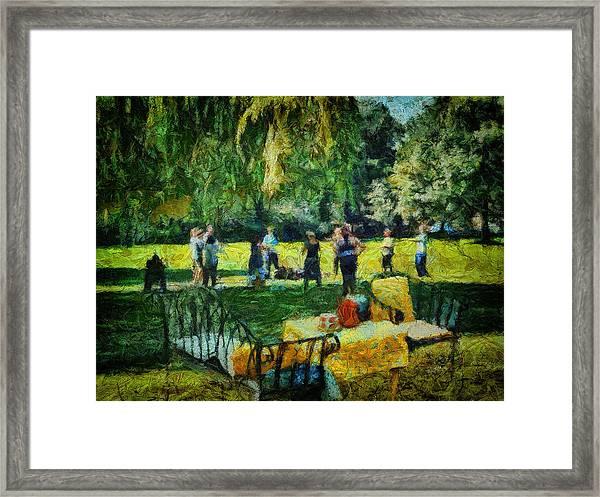 High Tea Tai Chi Framed Print