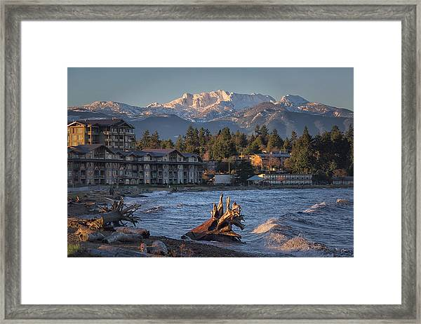 Framed Print featuring the photograph High Tide In The Bay by Randy Hall