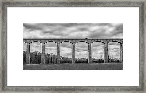 Framed Print featuring the photograph Sky Walkers by Nick Bywater