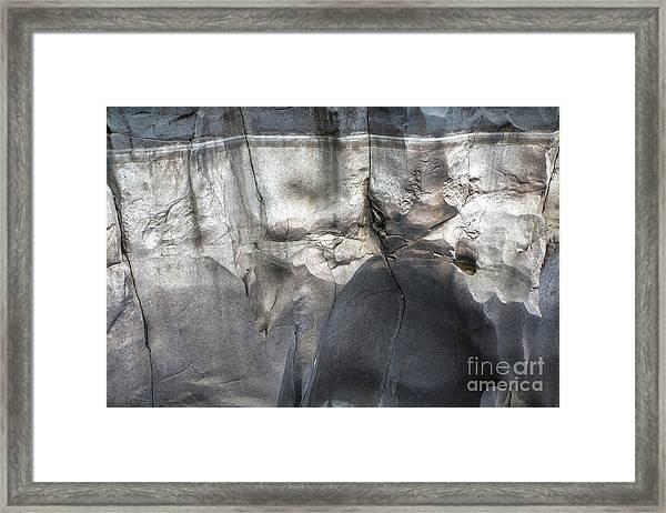 High Water Mark Rock Art By Kaylyn Franks Framed Print