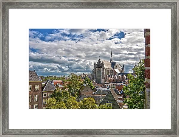 Highland Church Seen From Leiden Castle Framed Print