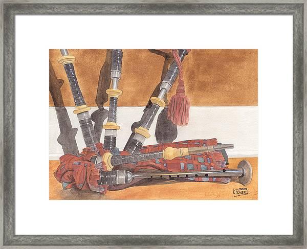 Highland Pipes Framed Print