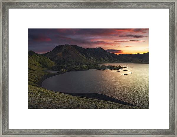 Highland Sunset Framed Print