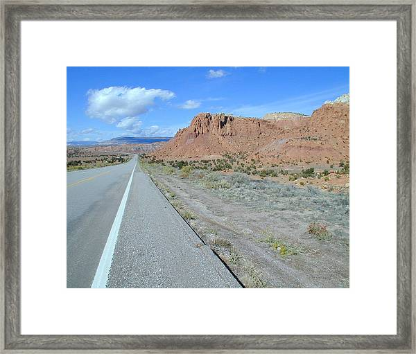 Framed Print featuring the photograph Highyway To The Clouds Number 1 by Joseph R Luciano