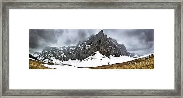 Hiking In The Alps Framed Print