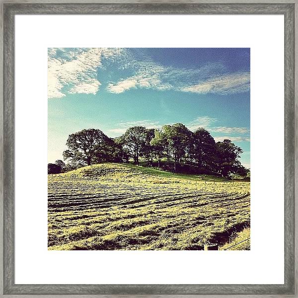 #hills #trees #landscape #beautiful Framed Print