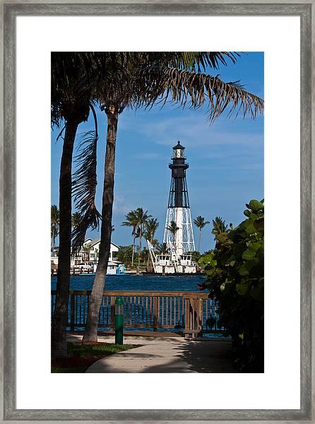 Hillsboro Inlet Lighthouse And Park Framed Print
