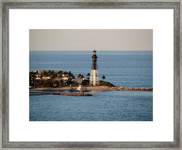 Hillsboro Lighthouse In Florida Framed Print