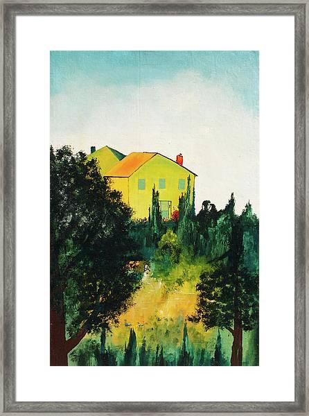 Hillside Romance Framed Print