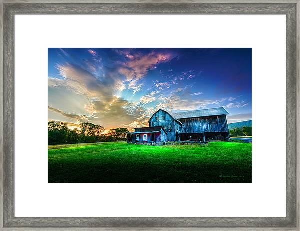 Hillside Sunset Framed Print