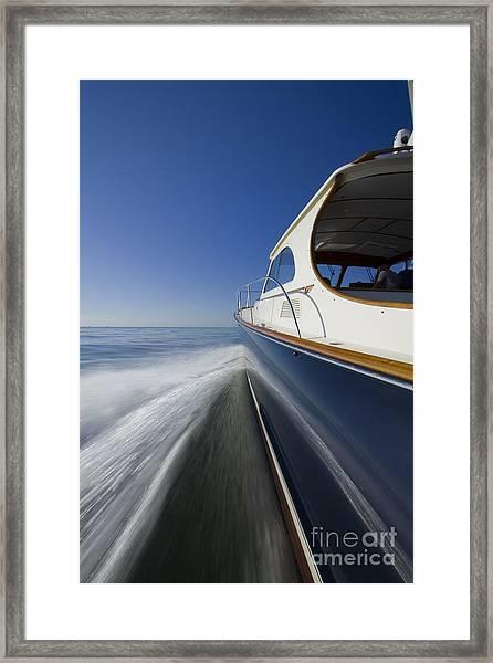 Hinckley Talaria 44 Motor Yacht Framed Print