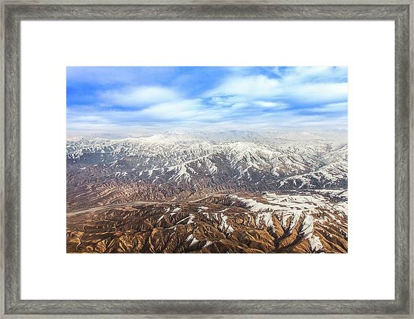 Hindu Kush Snowy Peaks Framed Print