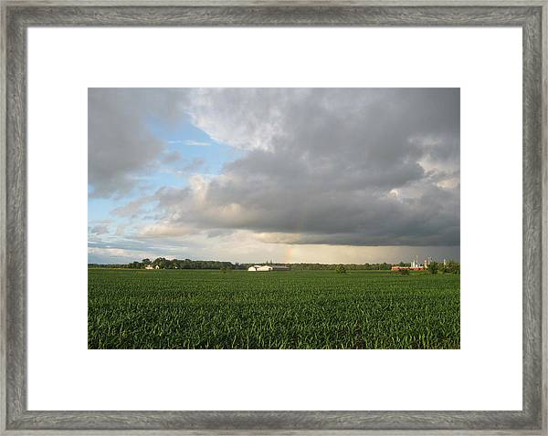 Hint Of A Rainbow Framed Print by Patrick Murphy