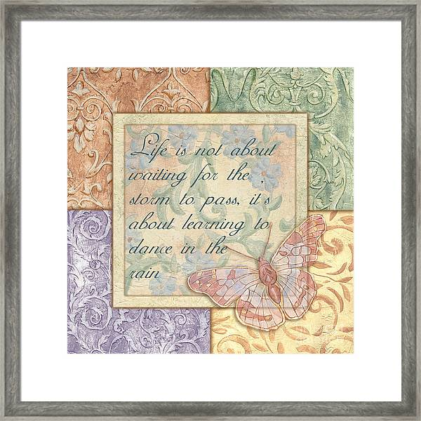 Hint Of Spring Butterfly 2 Framed Print