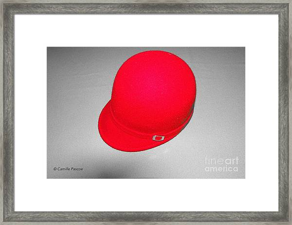 Hints Of Red - Hat Framed Print