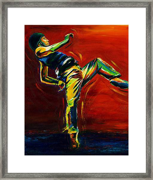 Framed Print featuring the painting Hip Hop by Shevon Johnson