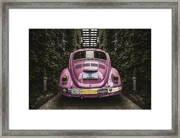 Hippie Chick Love Bug Framed Print