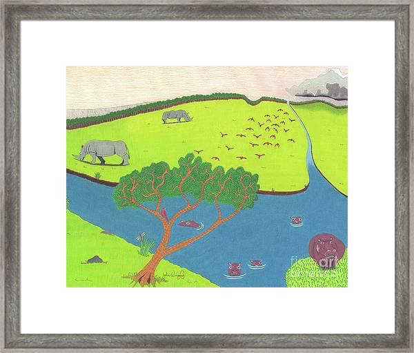 Hippo Awareness Framed Print